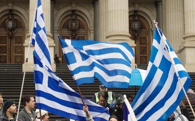 gréci oslavujú, referendum