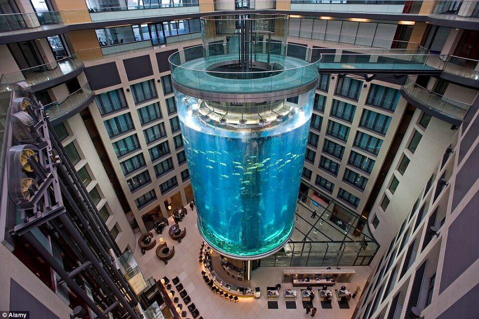 Akvárium v hoteli
