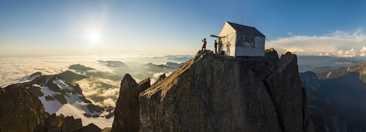 Three Fingers Mountain Lookout, Baker River Wilderness, Washington.