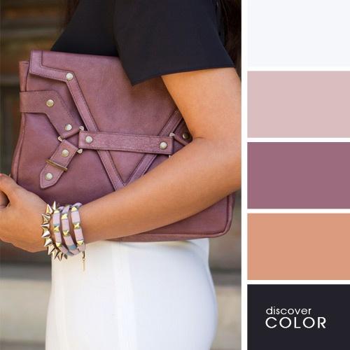 Kombinacie k svetlej purpurovej