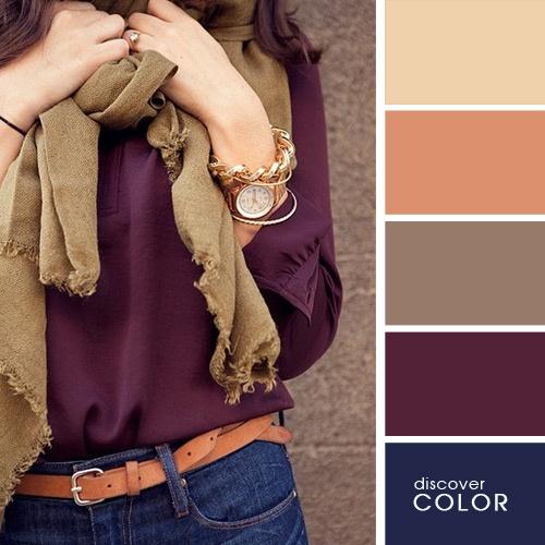 Tmava purpurova bluzka