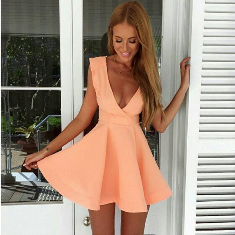 2015-hot-font-b-sexy-b-font-Summer-style-sleeveless-v-neck-low-cut-pink-mini