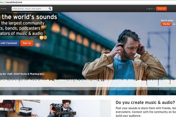 SoundCloud-Login-screen