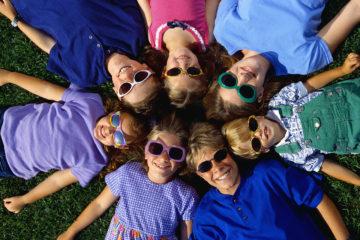 Children Wearing Sunglasses in Circle