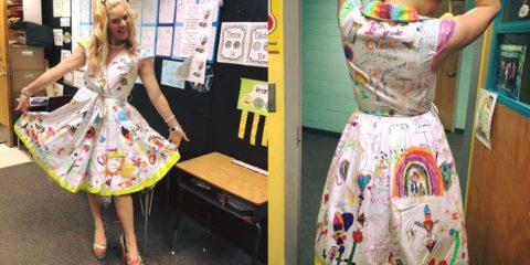 šaty učiteľka