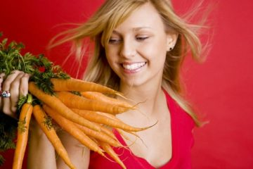 happy with carrots