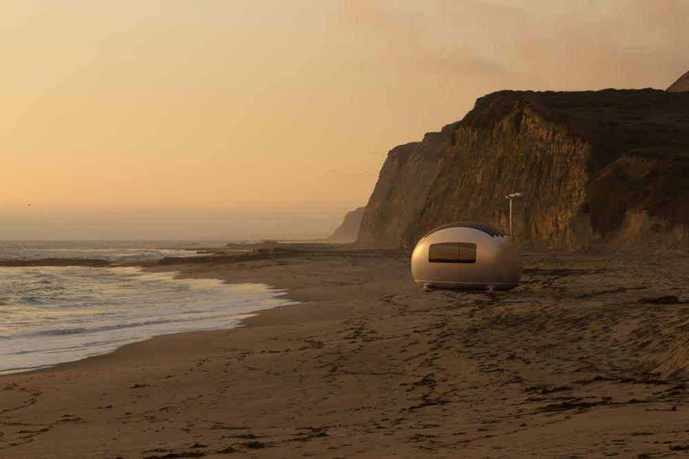 ecocapsule_beach_sunset