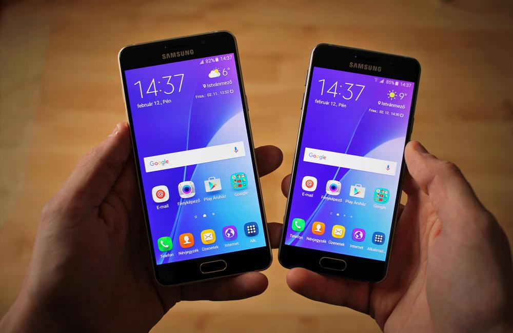 Modely z roku 2016 - Galaxy A3 (momentálne s chybou nabíjania) & Galaxy A5