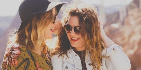 Women Girls Smile Laugh Happy Friends People