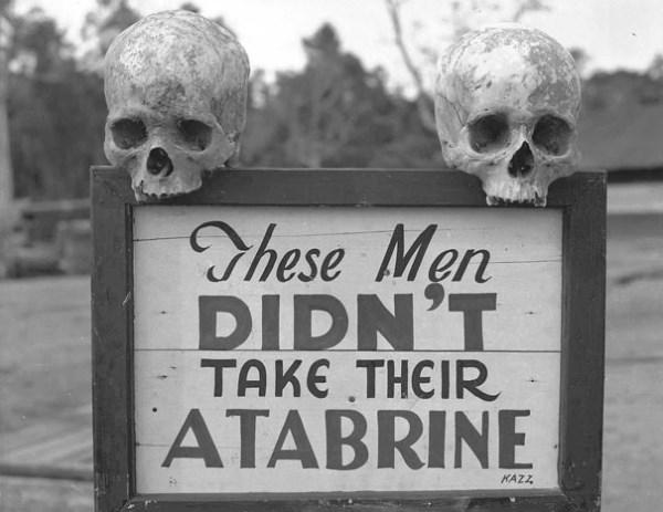Reklama na Atabrín, liek proti malárii, počas druhej svetovej vojny