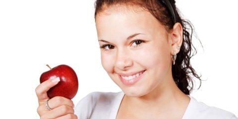 Food Fruit Diet Cute Girl Female Apple Healthy