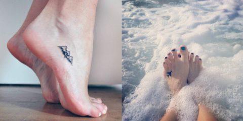 tetovania na nohách